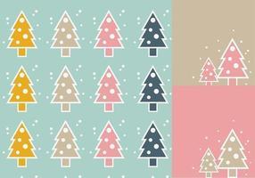 Pacchetto di sfondi vettoriali semplice albero di Natale