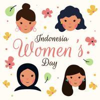 Vettore di giorno delle donne di Kartini Indonesia