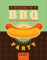 Poster retrò barbecue vettore