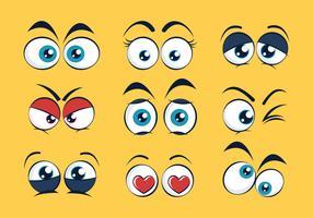Set di occhi di cartone animato vettore