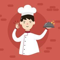 vettore del ragazzo del cuoco unico