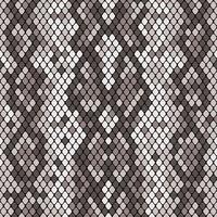 Modello senza cuciture Snakeskin. Texture realistica di serpente o un'altra pelle di rettile. Colore grigio. Vector illustartion