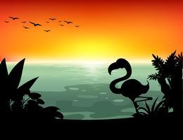 Lago silhouette vettore