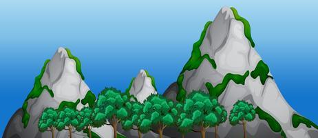 Un paesaggio di montagna natura vettore