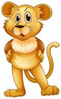 Bambino carino leone in piedi vettore
