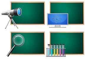 Un set di scienza con tabellone