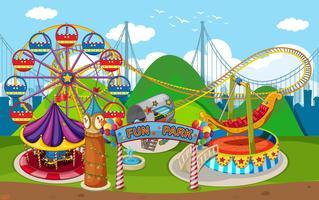 Una mappa di Fun Park vettore