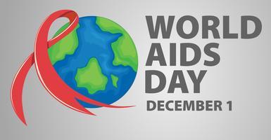 Design del poster per World Aids Day vettore