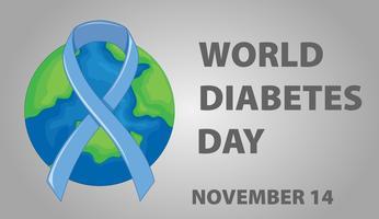 Design del poster per la giornata mondiale del diabete vettore