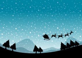 Silhouette di Natale vettore