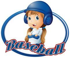 Bambina in abito da baseball