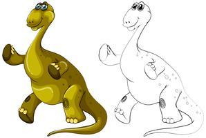 Profilo animale per dinosauro brachiosauro vettore