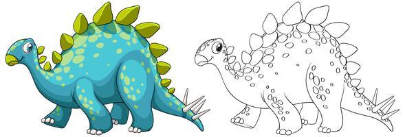 Profilo animale per dinosauro vettore
