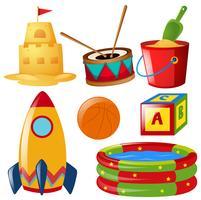 Diversi oggetti di giocattoli