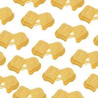 toast al formaggio senza cuciture, panino al formaggio e pane su sfondo bianco vettore