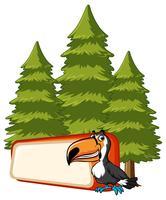 Modello di banner con uccello Tucano