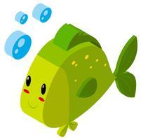 Progettazione 3D per pesci verdi vettore