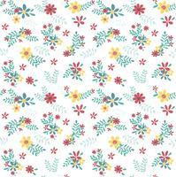 modello di fiore colorato primavera senza soluzione di continuità vettore