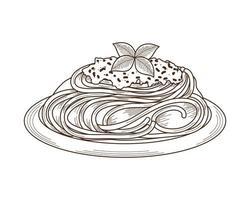 spaghetti e parmigiano vettore