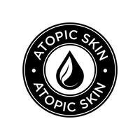 Icona della pelle atopica.