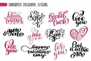 Impostare la frase calligrafia di San Valentino vettore