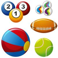 Cinque diversi tipi di palle