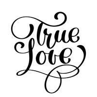 vero amore felice giorno di San Valentino carta vettore