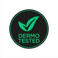 Icona dermatologicamente testata vettore