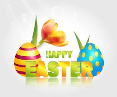 Illustrazione vettoriale di buone vacanze di Pasqua.