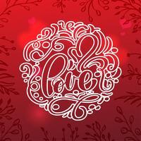 Cartolina di San Valentino con cuore vintage