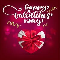 Progettazione di iscrizione felice di vettore del disegno della mano di giorno di biglietti di S. Valentino