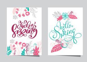 Disegnato a mano lettering Ciao primavera