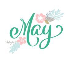Mano abbozzata Ciao maggio vettore