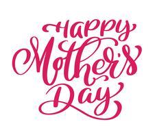 Testo di Happy Mothers Day scritto a mano vettore