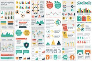 Modello di progettazione di vettore di visualizzazione di dati degli elementi di Infographic.