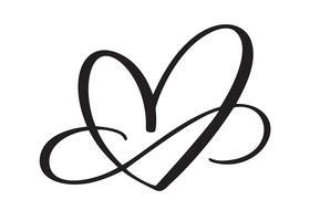 Segno di amore del cuore per sempre
