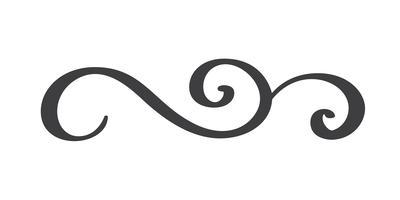 Separatore di flourish disegnato a mano dell'annata vettore