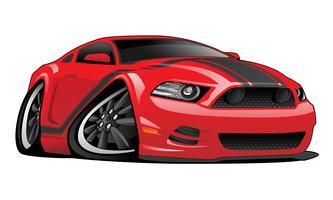 Illustrazione americana moderna di vettore del fumetto dell'automobile del muscolo