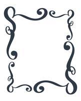 Cornici decorative e confine rettangolo standard disegnati a mano separatore fiorire Elementi di design calligrafia. Illustrazione vettoriale vintage matrimonio isolato su sfondo bianco