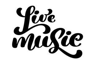 Icona del segno di musica dal vivo. Simbolo del karaoke vettore