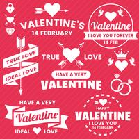 Banner modello di San Valentino Sfondo vettoriale per banner