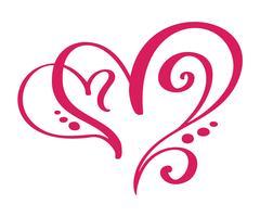 Segno di amore del cuore per sempre per Happy Valentines Day. Infinito simbolo romantico collegato, unire, passione e matrimonio. Modello per maglietta, carta, poster. Design elemento piatto. Illustrazione vettoriale