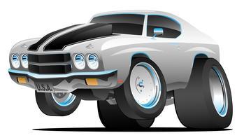 Illustrazione americana di vettore del fumetto dell'automobile del muscolo di stile degli anni settanta classici