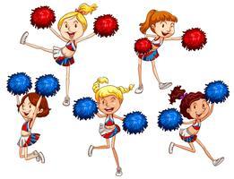 cheerleaders vettore