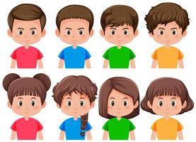 Set di ragazzi e ragazze