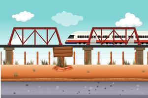 Treno in zona rurale