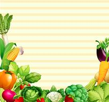 Disegno di carta con verdure e frutta vettore