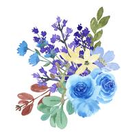 Acquerello di stile dell'annata llustration lussureggiante dipinto a mano di florals dei mazzi dei fiori dell'acquerello isolato su fondo bianco. Arredamento di design per la carta, salvare la data, inviti di nozze, poster, banner
