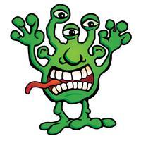 Illustrazione sciocca di vettore del fumetto della creatura del mostro