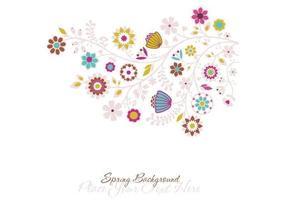 Sfondo vettoriale floreale di primavera